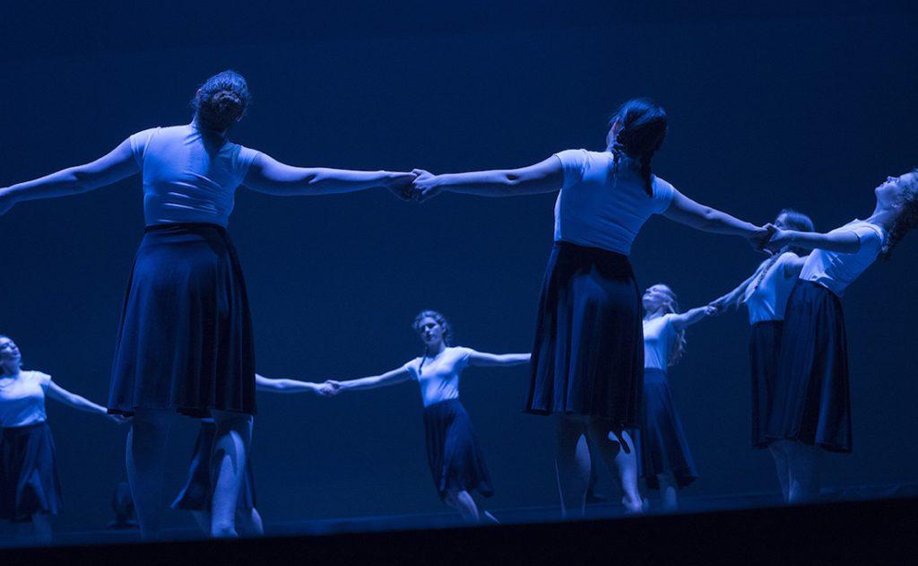 dancers in circle